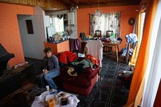 Chaos in der Wohnung.