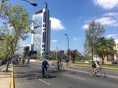 Fahrradtag in der Stadt.