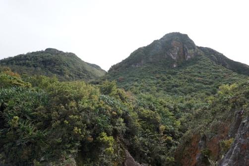 Schöne Landschaften rund um den Vulkan.