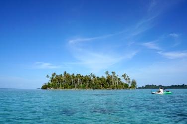 Unbewohnte Insel.