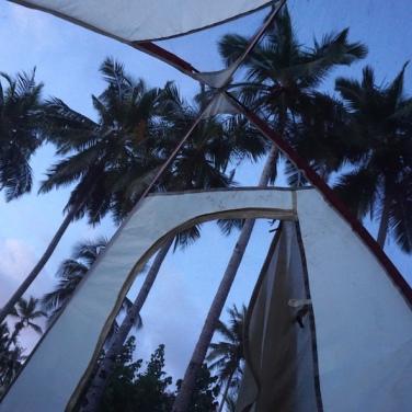 Aussicht aus dem Zelt.