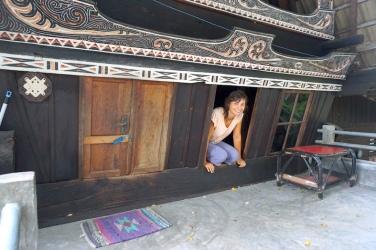 Eingang zum Batak-Haus.