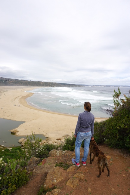 Blick auf den Strand.