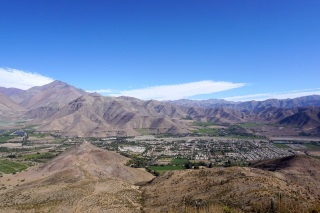 Blick auf Vicuña.
