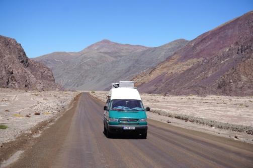 Letzte Kilometer in der Wüste.