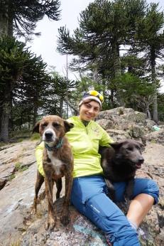 Mila, Isi und der Guide-Dog.